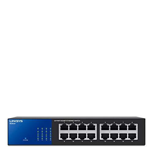 Linksys SE3016 16-Port Gigabit Switch ,Black