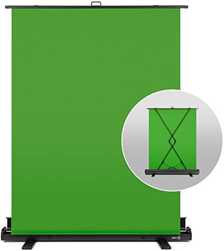 elgato Green Screen Pannello Chroma Key Pieghevole 148 x 180 per la Rimozione Dello Sfondo, con Telaio Autobloccante, Materiale Chroma-Key Verde Antipiega, Custodia Rigida di Alluminio, Verde (Green)