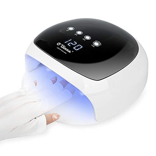 O'Vinna Lampada Unghie UV LED da 52W per Manicure/Pedicure con Automatico Sensore, 4 Timers da...