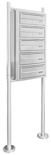 V2aox Edelstahl System Standbriefkasten Briefkastenanlage Briefkasten Postkasten 4 Fächer
