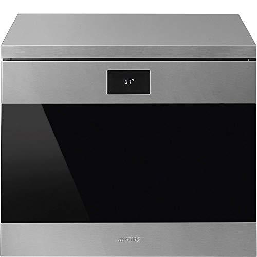 SMEG CVF318X - Cantina inox e vetro nero, 60 cm. Estetica Classica. Classe energetica A+