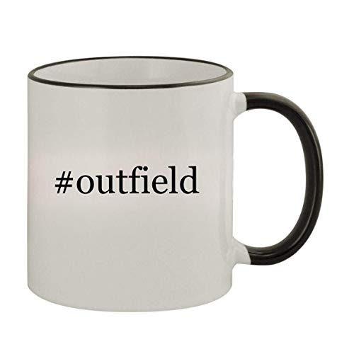 #outfield - 11oz Ceramic Colored Rim & Handle Coffee Mug, Black