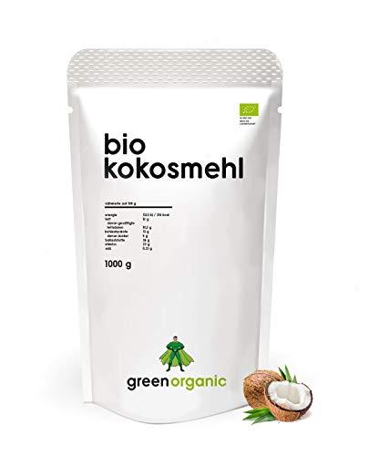 BIO PREMIUM KOKOSMEHL - lower-Carb, glutenfrei, vegan, entölt, proteinreich, ballaststoffreich, Paleo Superfood, nachhaltig und fair angebaut, 1000g