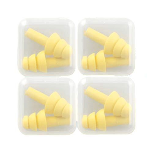 Earplugs Silicone Riduzione del Rumore Auricolare Auricolare Dell'ecoscandaglio del Rumore Studente Dormitorio Dormitorio Anteprima (Color : Yellow)