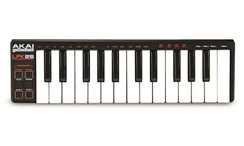 AKAI Professional LPK25 Portabler 25Tasten USB MIDI Keyboard Controller für Laptops (Mac & PC)