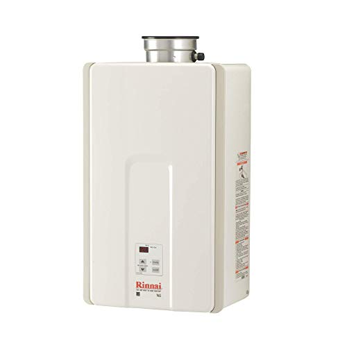 Rinnai V65iP High Efficiency Tankless Hot Water Heater, 6.5 GPM - Propane Gas: Indoor Installation