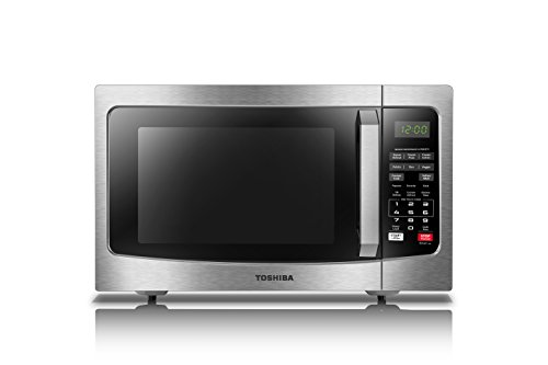 Toshiba EM131A5C-SS Microwave Oven with Smart Sensor, Easy Clean Interior, ECO Mode and Sound On/Off, 1.2 Cu. ft,...