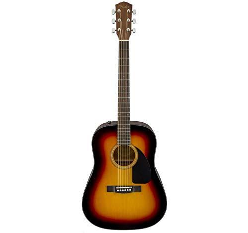 Fender CD 60 Dread V3 DS 6 String Acoustic Guitar - Walnut Fretboard-Sunburst