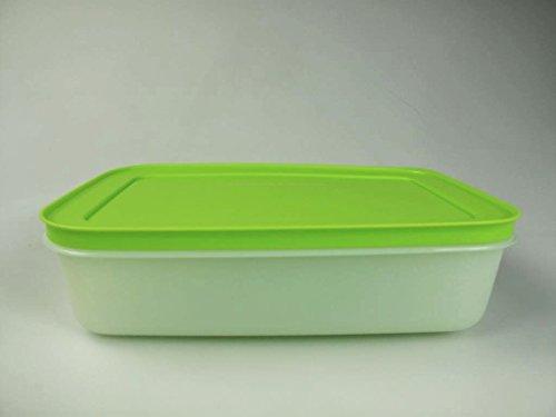 TUPPERWARE Contenitore per congelatore, 1 l, piatto, bianco, verde, cristallo di ghiaccio G36 30886