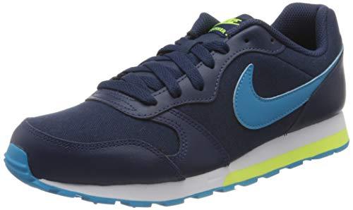 Nike MD Runner 2 (GS), Running Shoe, Midnight Navy/Laser Blue/Lemon Venom/White, 39 EU