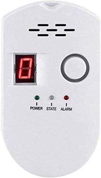 Détecteur de gaz numérique naturel, alarme de gaz domestique, détecteur de fuite de gaz, haute sensibilité LPG, LNG, détection de fuite de charbon naturel, moniteur d'alarme pour maison/cuisine