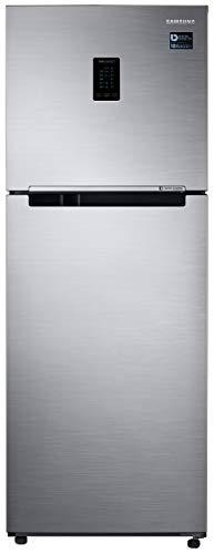 Samsung 324L 3 Star Inverter Frost Free Double Door Refrigerator (RT34T4513S8/HL, Elegant Inox, Convertible)