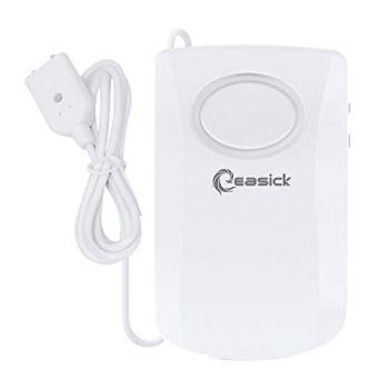 Détecteur d'eau Easick - Alarme d'eau - 130 dB - Super fort - Fonctionne sur piles - Empêche les dégâts des eaux dans les zones telles que la cuisine, la salle de bain et la cave.