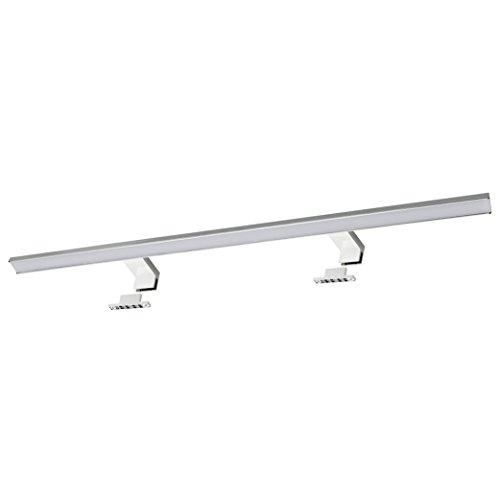 SEBSON® LED Spiegelleuchte 80cm, Bad IP44, Aufbauleuchte + Klemmleuchte, Spiegelschrank-Leuchte, neutralweiß 4000K, 800x108x40mm, 15W, 1000lm