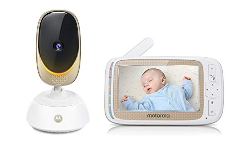Motorola COMFORT85 Connect Video Baby & Home Monitor with 5' HD Display and Wi-Fi Viewing, Digital Tilt and Zoom, Remote Pan Scan, Night Vision and Mood Lighting