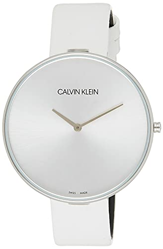 Calvin Klein Damen Analog Quarz Uhr mit Leder Armband K8Y231L6