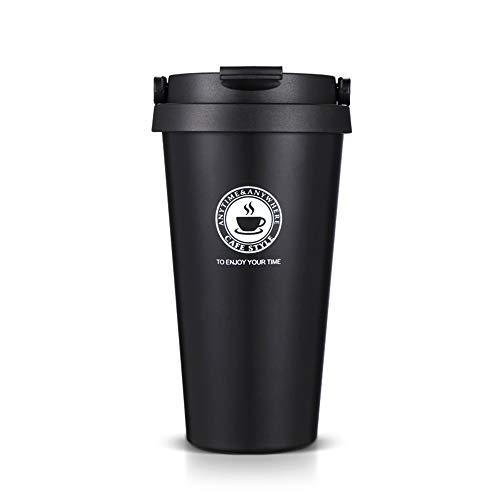 SLOSH Vaso Termico Café Termo Taza Termica Viaje (Negro)
