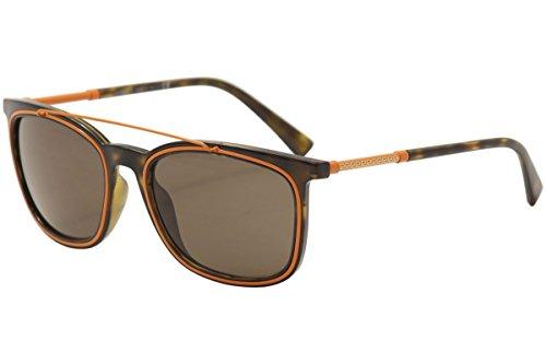 31bFIfZXwKL Temple/Frame Color: Havana/Orange - 108/73 Lens Color: Brown Brand: Versace Model: VE4335 Style: Fashion Square