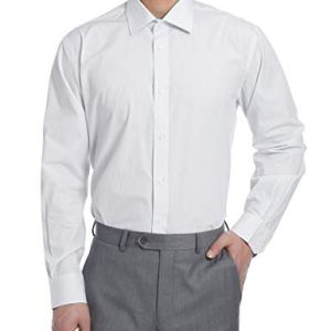 PIERRE NOIR Men's Shirt Regular Fit Wrinkle-Resistant Long-Sleeve Dress Shirt 100% Cotton Dress Shirt