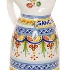 "Tierra Fina Cenefa Style Sangria Pitcher - 10"" Tall"