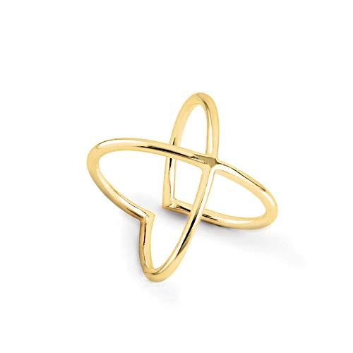 SINGULARU ®Anillo 4Ever Oro para Mujer Plata de Ley 925 con