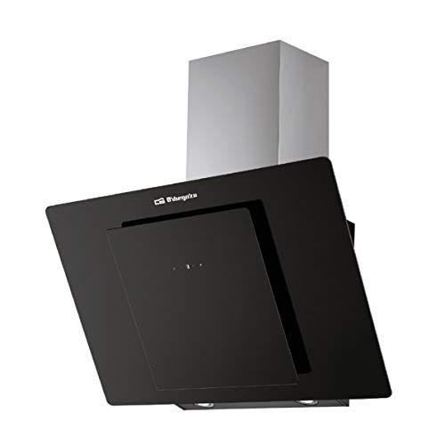 Orbegozo DS 80170 N - Cappa decorativa 70 cm, classe A, frontale in vetro temperato, capacit di...