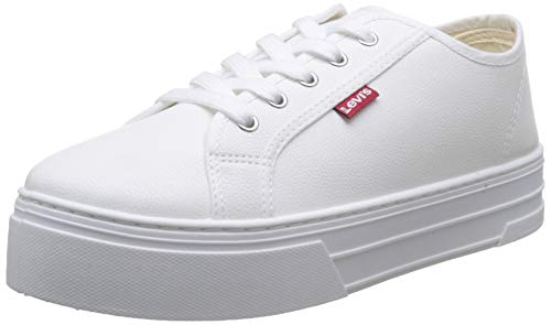 Levi's Tijuana, Zapatillas para Mujer, Blanco (Sneakers 51), 38 EU