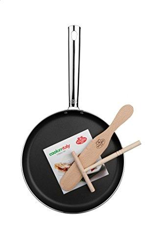 Ballarini Cookin' Italy Crepes-Set, Alluminio, Nero, 25 cm