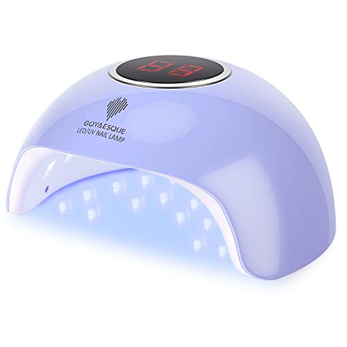 UV Gel Nail Lamp Professional UV Led Nail Lamp kit 36w 18LED UV Gel Polish Light Goyaesque UV Lamp Gel Nail Dryer for Salon Beginner DIY at Home(36W, BLUE)