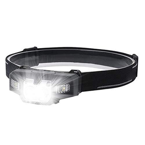 Head Torch - Wesho Headlight Super Bright LED Rechargeable with 6 Modes Sensor Mode, 4000 Lumen LED Head Lamp, Hands-Free Head Torch for Running, Camping, Fishing, Cycling, Hiking, Waterproof