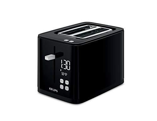 Krups KH6418 Smart'n Light Toaster   Zwei-Scheiben-Toaster   Digitaldisplay   7 Bräunungsstufen   herausnehmbare Krümelschublade   Countdown   Anhebevorrichtung   Schwarz
