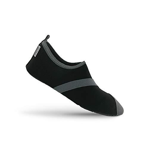 FitKicks Women's Active Footwear, Black / Grey, Medium