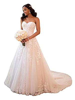 Off The Shoulder Lace A-Line Wedding Dresses;Long Covered Button Sweep Train Bridal Gowns Suit for Prom Dress,Evening Party Dress,Wedding Party,Homecoming,Juniors Graduation,Holiday or other Formal Occasions Before order, please do refer to seller's ...