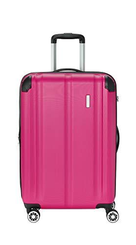 """Travelite Leicht, flexibel, sicher: """"City""""-Hartschalenkoffer für Urlaub und Business (auch mit Vortasche) Koffer, 68 cm, 78 Liter, Beere"""
