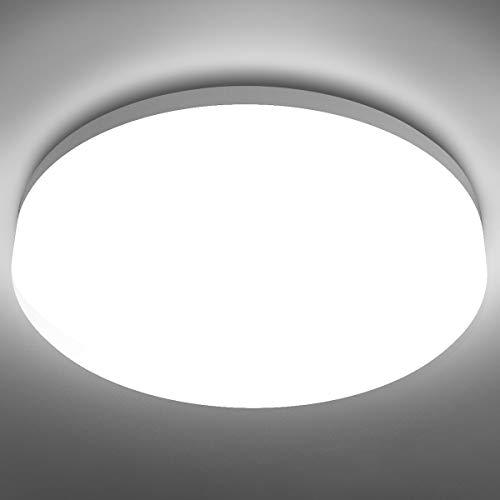 LE Lampada da Soffitto LED 1400lm, 15W(=100W), Plafoniera LED Impermeabile IP54, Bianco Diurno 5000K Lampada da Bagno, Luci Lampade a Soffitto Protegge Occhi per Bagno Cucina Camera da letto Sala