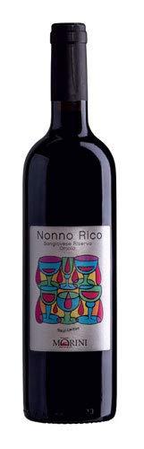 Confezione da 6 Bottiglie Vino Rosso Nonno Rico Sangiovese di Romagna Riserva Oriolo Poderi Morini -cz