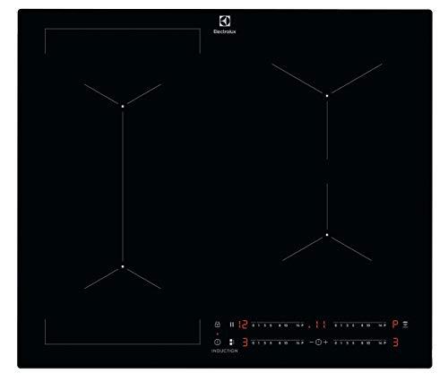 Electrolux LIL63443 Piano Cottura ad Induzione Bridge 60 cm, 4 Zone di Cottura, Funzione Bridge, Nero