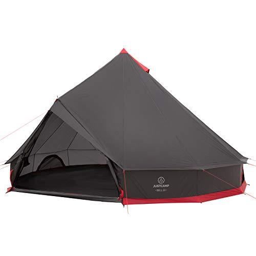 JUSTCAMP Bell 10 Tipi Zelt für Gruppen, Familien oder Camping bis zu 10 Personen