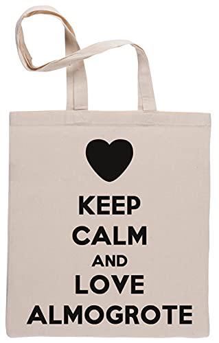 Keep Calm and Love Almogrote Bolsa De Compras Shopping Bag B