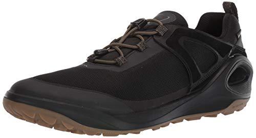 ECCO Men's Biom 2GO Gore-TEX-Waterproof Outdoor Lifestyle Multi-Sport Speed Lace Hiking Shoe, Black/Tarmac/Black Textile, 47 M EU (13-13.5 US)