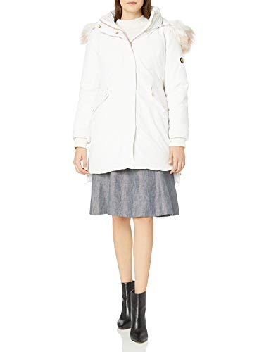 Jessica Simpson Women's Parka Jacket, Hooded White, M