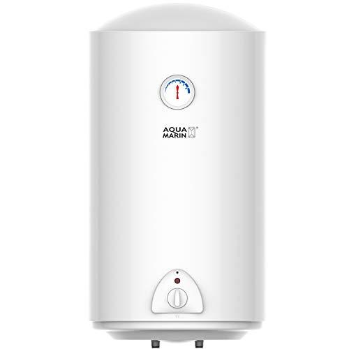 Aquamarin® Chauffe-Eau Électrique - Réservoir avec Capacité de 80 Litres, Puissance 1500W, Thermostat à 75 ° C - Ballon d'Eau Chaude, Chaudière Électrique
