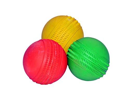 P&K 3 Heavy Weight Rubber Balls for Tennis, Cricket