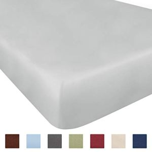 Twin Size Fitted Sheet - Single Fitted Sheet Twin - Fitted Sheet Only - Fitted Sheet Deep Pocket - Fitted Sheet for Twin Mattress - Softer Than Egyptian Cotton - 1 Twin Fitted Sheet Only Sold Seperate