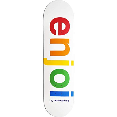 Enjoi White Spectrum 8.0 Skateboard Deck