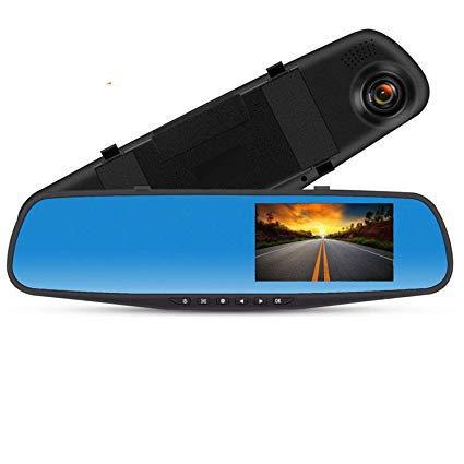 ドライブレコーダー バックミラー型 リアカメラ 前後カメラ ミラーモニター HD1080P 4.19インチ 170度広...