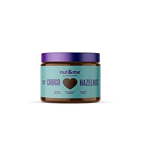 Crema de avellanas y cacao 330 gramos nut&me | Dieta Keto | 100 % Natural | 3 ingredientes: Cacao, avellana y dátil | Sin Azúcar | Repostería | Sin Aditivos | Vegano