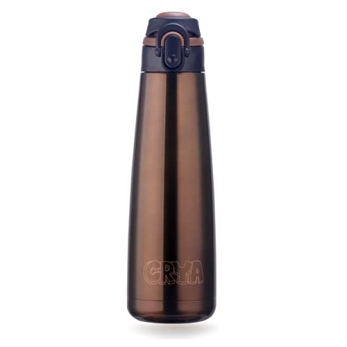 CRYA Zenith 750ML Stainless Steel Water Bottle for Hot and Cold Beverages for Upto 24 Hours, BPA...