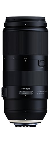 Tamron T80199 - Objetivo para cámara Nikon (distancia focal 100-400 mm, apertura F/4.5-6.3, Di, Vibration Compensation y Ultrasonic Silent Drive) negro