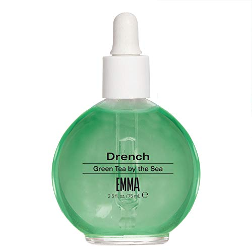 EMMA Beauty Drench Green Tea by the Sea, Cuticle Oil, 12+ Free Treatment Vegan & Cruelty-Free, Deep Penetrating Oil Nourishes, Protects, Hydrates & Revitalizes Nails & Cuticles With Natural Ingredient